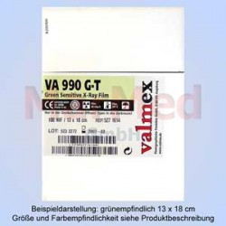 RTG-film, zelenocitlivý, 30 x 40 cm, 100 ks