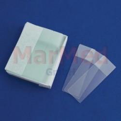 Sklíčka podložní 76 x 26 mm, oboustranný matný okraj, balení s 50 ks