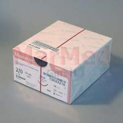 Šicí materiál Monosyn fialový, USP 2/0 (metric 3) + jehla DS-24, 70 cm, 36 kusů, C0022216