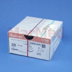 Šicí materiál Monosyn fialový, USP 3/0 (metric 2) + jehla DS-19, 70 cm, 36 kusů, C0022205