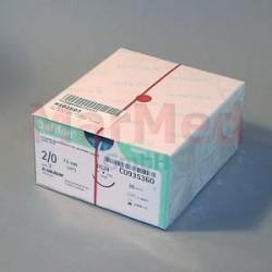 Šicí materiál Dafilon modrý, USP 2/0 (metric 3), + jehla DS-24, 75 cm, 36 kusů, C0935360