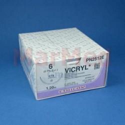Šicí materiál Ethicon VICRYL, fialový, USP 6 (metric 8), jehla CTX (1/2 kruhu, kulatá, délka oblouku 48 mm), délka