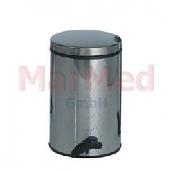 Koš na odpadky pedálový, 14 litrů, plášť i vnitřní část z nerez oceli, výška 41 cm, ? 27 cm