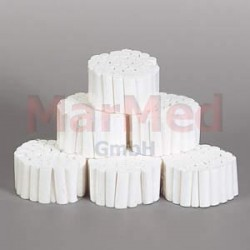 vatové válečky zubní, délka 40 mm, velikost 4, ? 14 mm, 300 g
