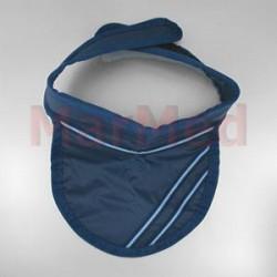 Límec na ochranu štítné žlázy, modrý, na suchý zip, Pb 0,5 mm, univerzální velikost