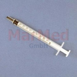 Injekční stříkačka jednorázová Dispomed, 1 ml Tbc (na malé dávky), 3-dílná, 100 ks