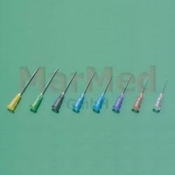 Kanyla Dispomed, velikost 14, modrá, 100 kusů, 0,6 x 30 mm