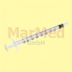 Inzulinová stříkačka Becton Dickinson, 1 ml U-40, bez kanyly, 3-dílná, 8 x 100 ks