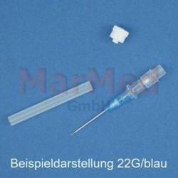 Katétr i.v. Dispomed Vasuflo T, G22, 0,9 x 25 mm, modrý, bez křidélek/bez injekčního portu, 50 ks