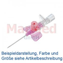 Katétr i.v. B. Braun VasoVet G20, 1,1 x 33 mm, růžový, s křidélky a injekčním portem, 50 ks