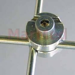 Spojovací prvek Fixateur, nerez ocel, vyvrtaný otvor 2 x 3 mm