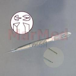 Pinzeta fixační/na stehy, Castroviejo, šířka zubů 0,3 mm, 10 cm