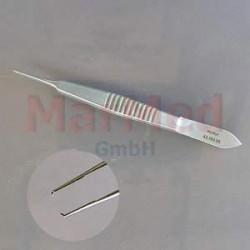 Pinzeta fixační/na stehy, Castroviejo, šířka zubů 0,5 mm, 10 cm