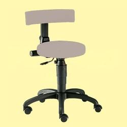 Vyšetřovací židle Ecco-Black, měkká kolečka, čalounění koženka šedá, 44 až 57 cm