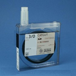 Chromovaný katgut - chir. niť, USP 0, metrika 4, cívka 75 m