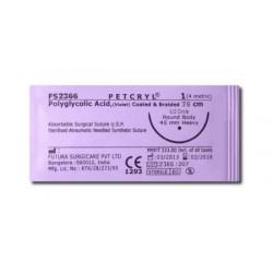 Petcryl (PGA), USP 4/0 (1,5 metrické), 75 cm, 1 DZ
