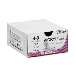 Ethicon Vicryl, V304H, fialová, 70 cm, 36 ks, USP 4/0 (1,5 metrické jednotky)