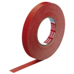 Náplast TESA Original 4651, textilní, červená barva, role 19 mm x 25 m - 1 ks