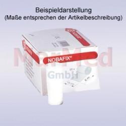 Obinadlo elastické fixační NOBAFIX, 4 m x 8 cm, bílé, 20 kusů, 45% viskóza, 55% polyamid