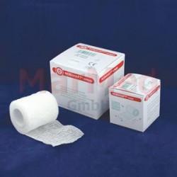 Obinadlo elastické fixační NOBAHAFT-crepp, 4 m x 10 cm, kohezivní, bílé, 1 kus, zvlněná struktura