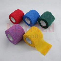 Obinadlo elastické MarMed VET-ColorFlex 4,5 m x 5,00 cm, kohezivní, červené, 12 kusů