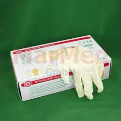 Rukavice vyšetřovací Nobaglove Supervinyl, bez pudru, velikost L, obzvlášť elastické